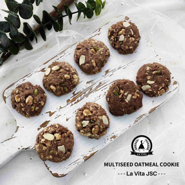 choco multiseed oatmeal cookies